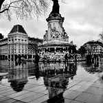 La pluie sur République